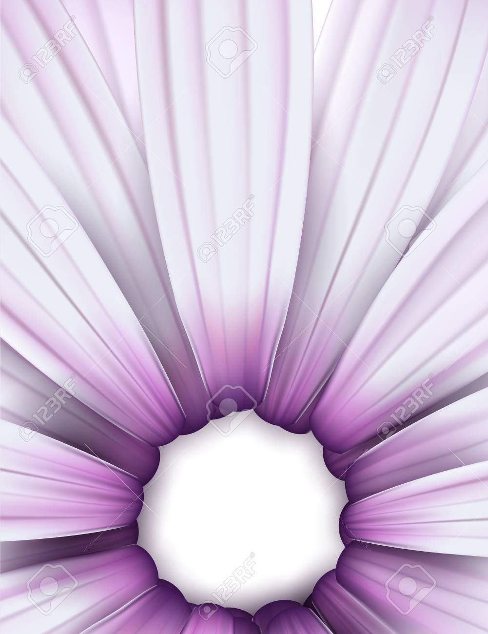 Crop of purple daisy. Detailed vector background. Eps10. Stock Vector - 18167082