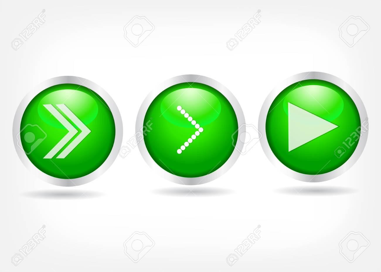 Green buttons with arrows. Vector Eps 10 Stock Vector - 18410963