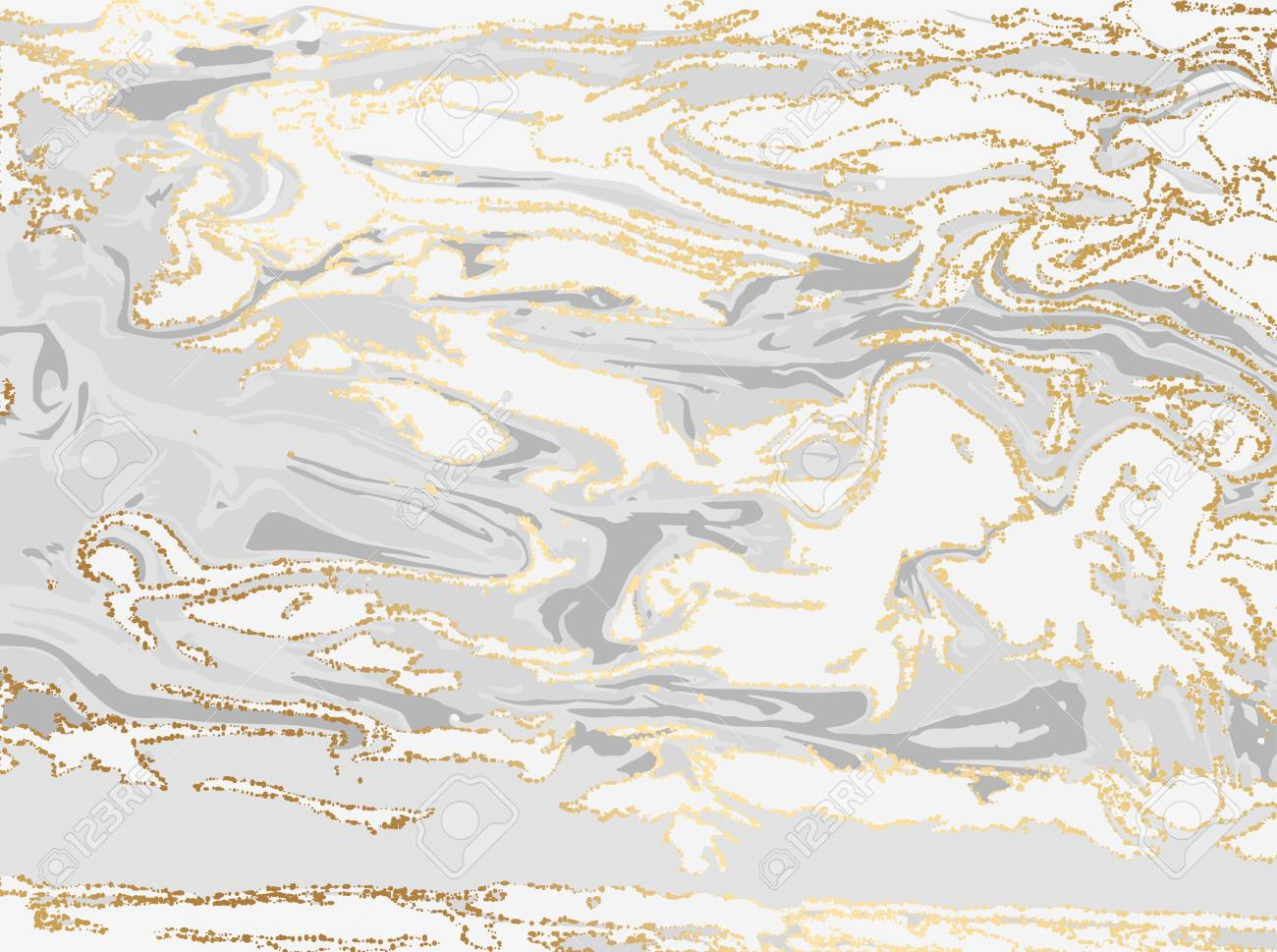 Abstract grey and gold marble or stone texture  Natural pattern