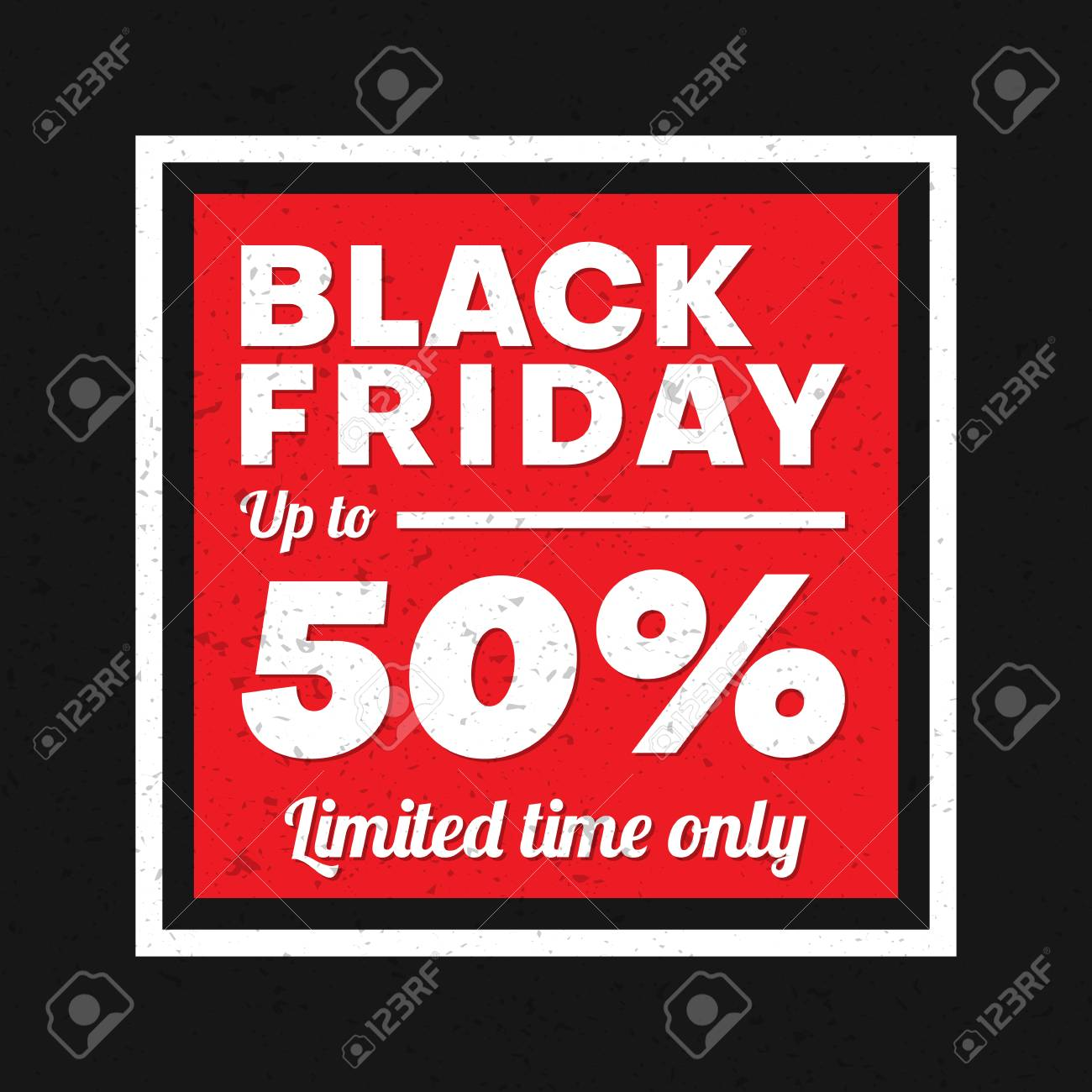 Black Friday Sale Promo Poster Discount Up To 50 Percent Limited Royalty Free Cliparts Vectors And Stock Illustration Image 108150552