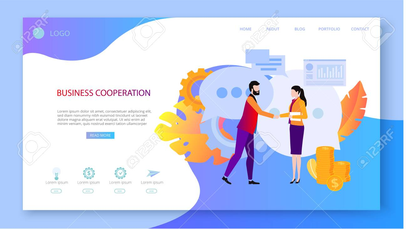 Business cooperation  People meet, agreed, work together, interact,