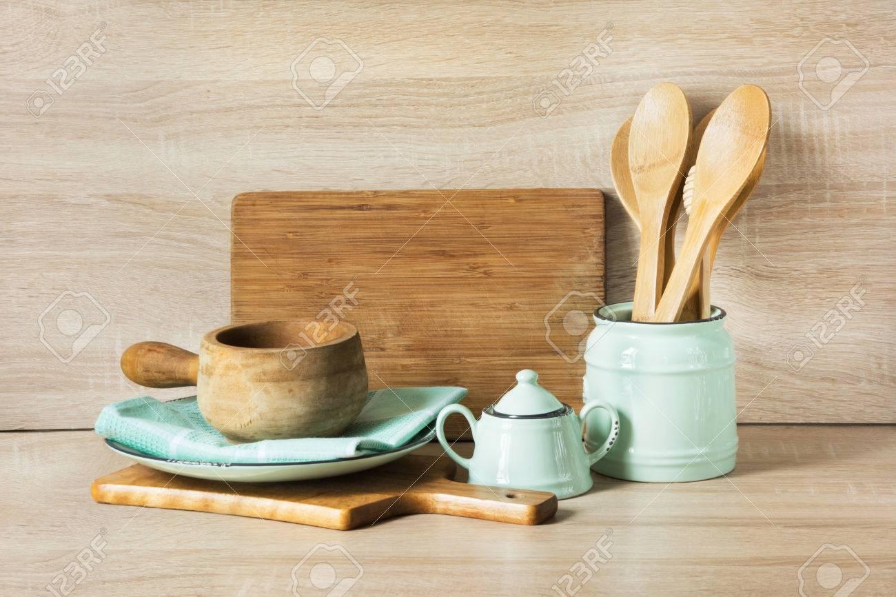 Wooden Rustic And Vintage Crockery Tableware Utensils And Stuff