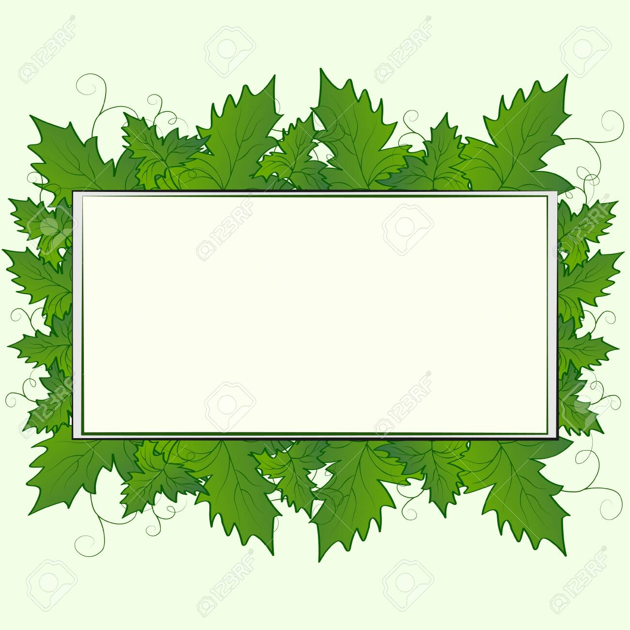Abstract Spring Summer Natural Floral Background With Grape Leaves Royalty Free Cliparts Vectors And Stock Illustration Image 141348402