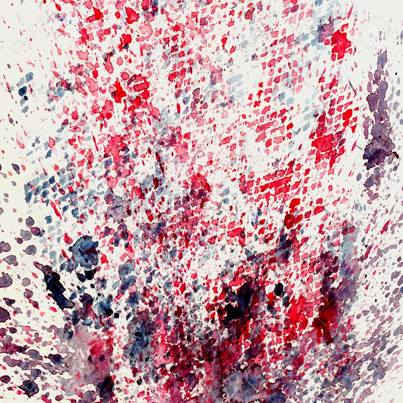 Watercolor abstract background painting, hand drawn on paper