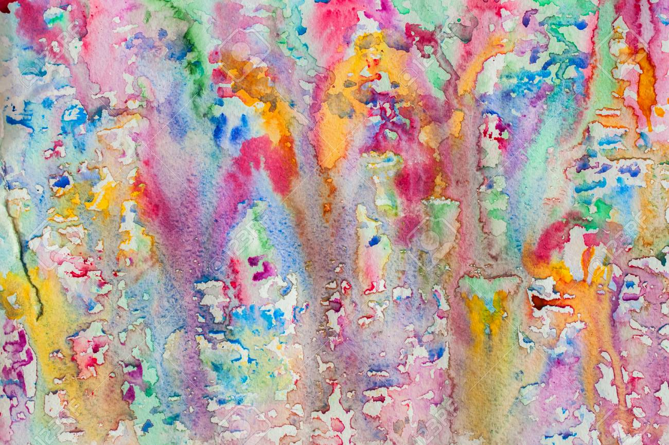 abstract watercolor all colors of the rainbow background painting