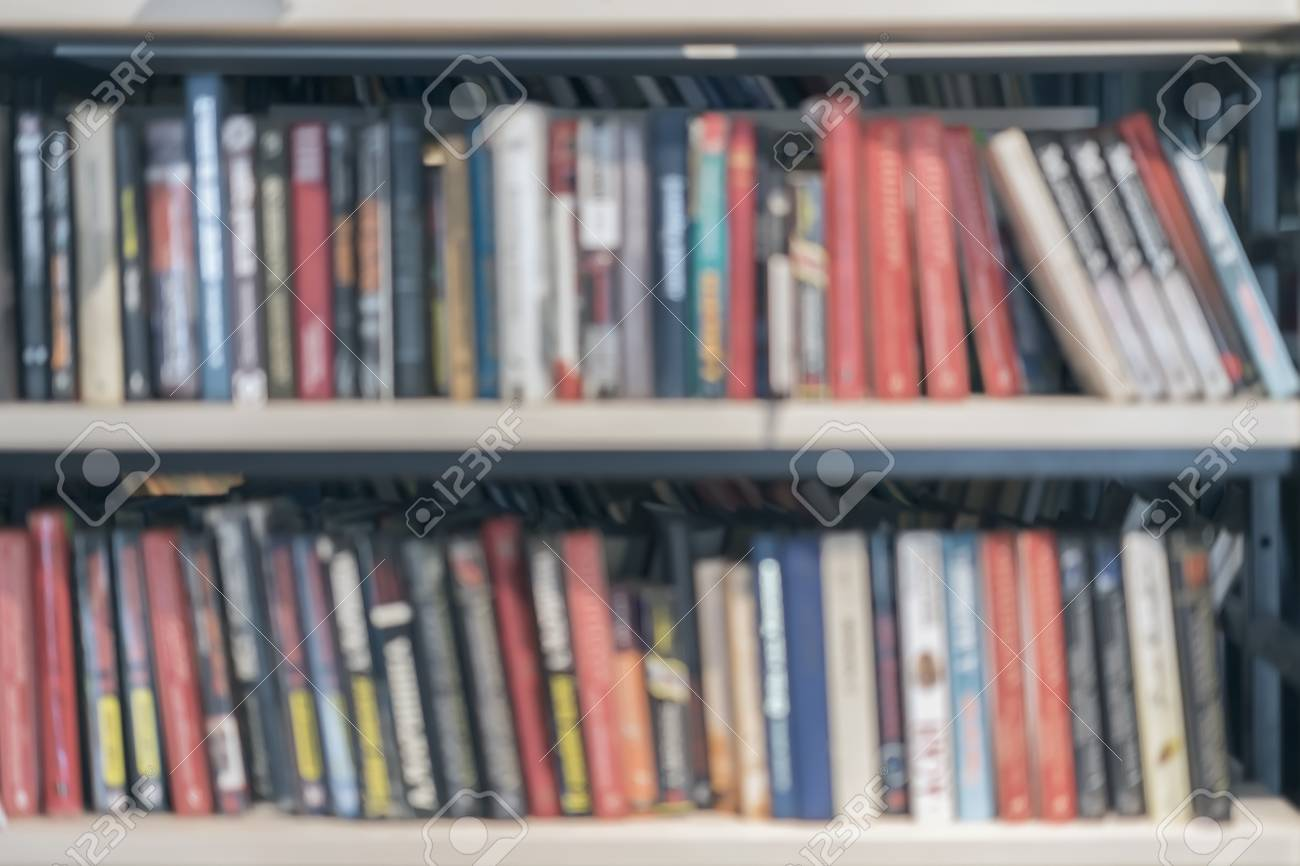 abstract blurred bookshelves of bookcase with books in library book rh de 123rf com library bookshelves with ladder for sale library bookshelves with ladder belfort