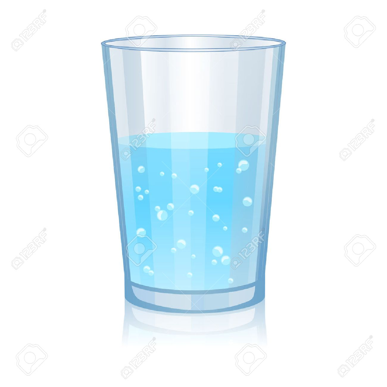 Glass with water isolated vector illustration on white background - 50649904
