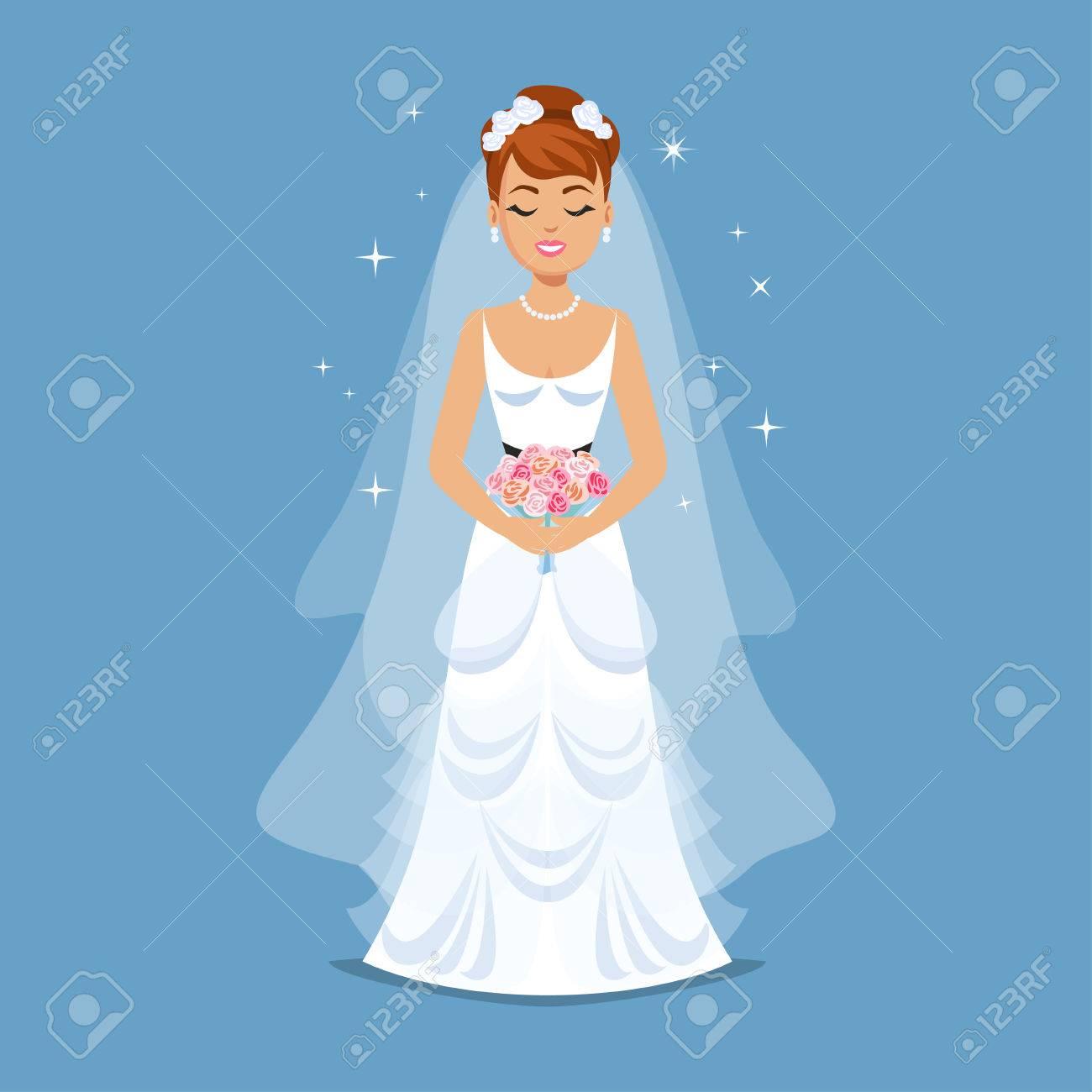 Dibujos Elegante Vestido Novia Bodaniña