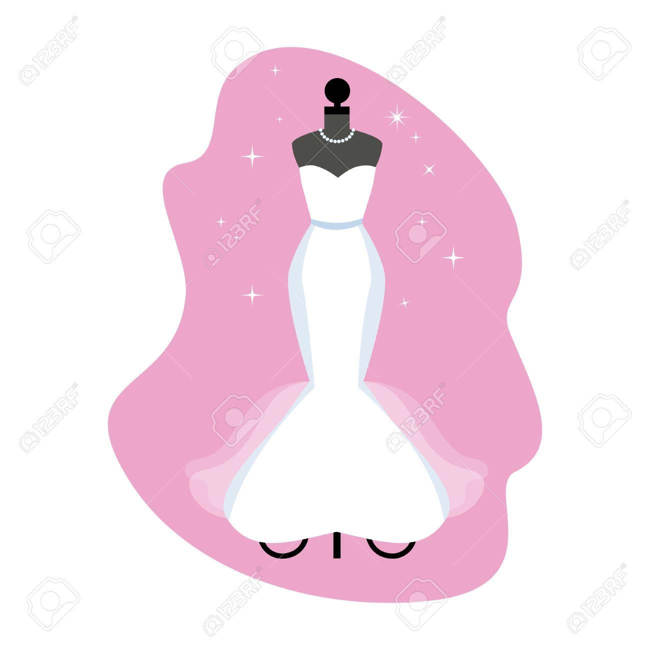Vestido De Novia. Moda Vestido Blanco En Maniquí. Prendas De Vestir ...