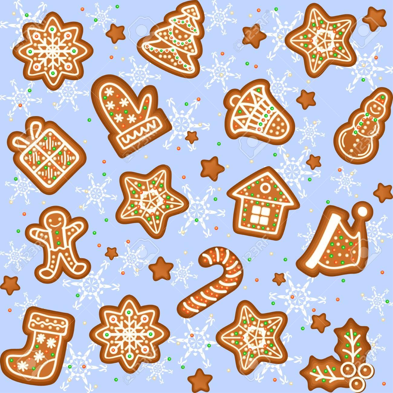 Weihnachtsplätzchen Clipart.Stock Photo