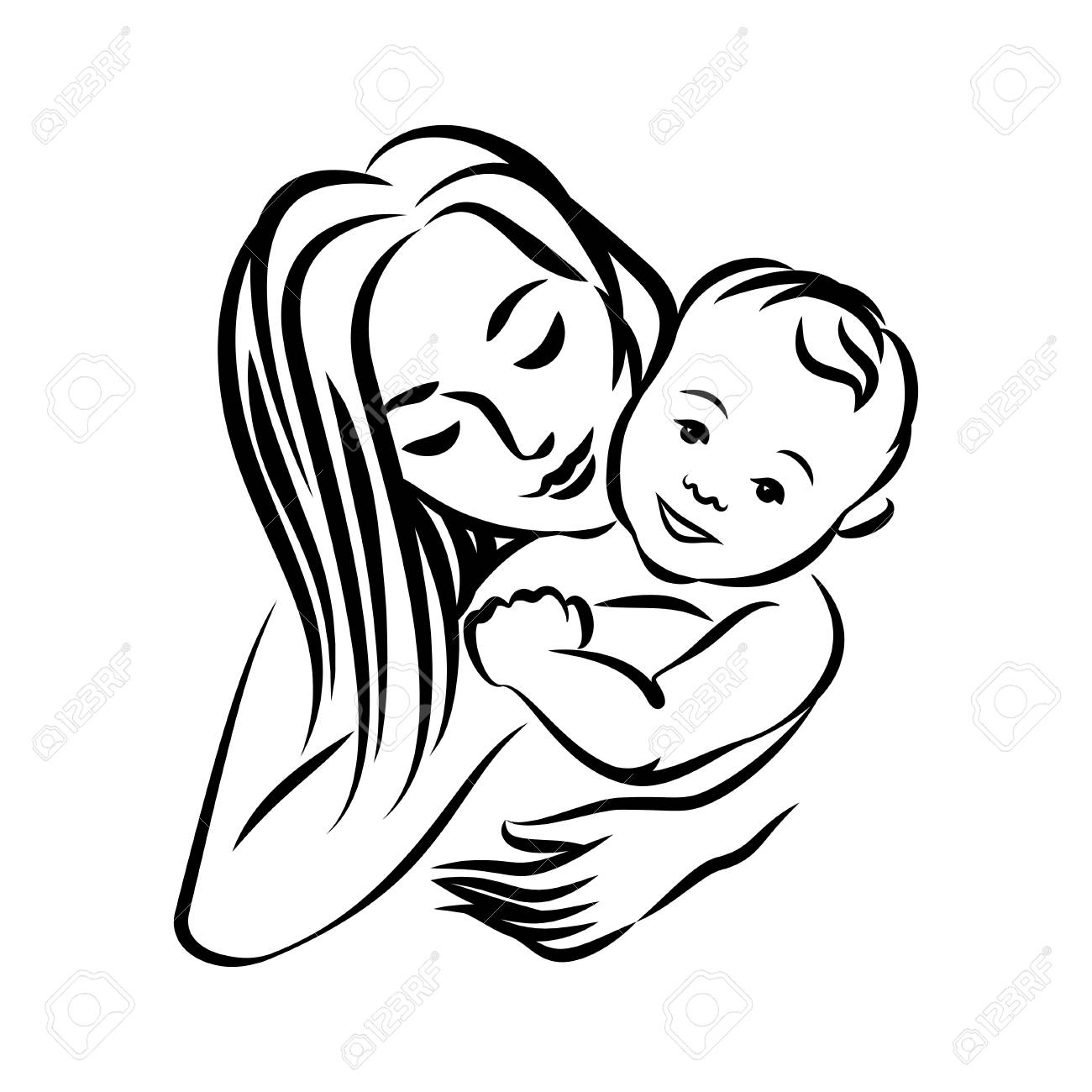 Mother With Her Baby Royalty Free Cliparts Vectors And Stock Illustration Image 81658863