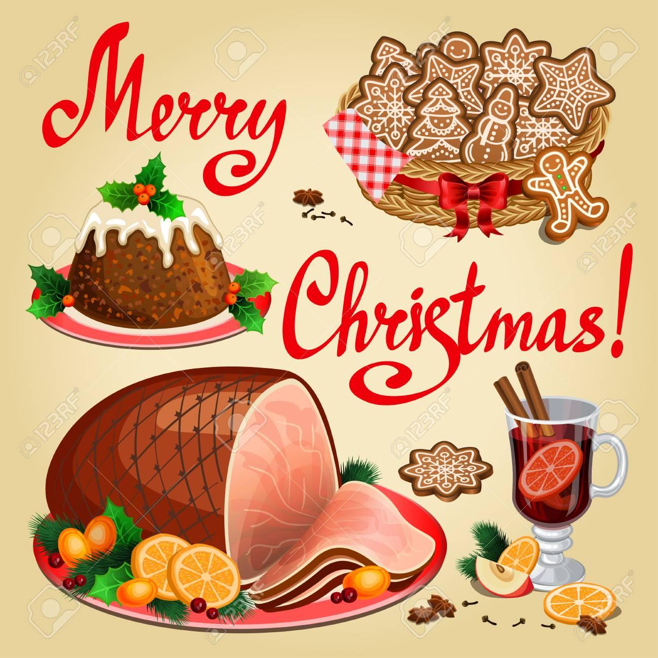 Christmas Ham Dinner.Christmas Dinner Traditional Christmas Food And Desserts Christmas