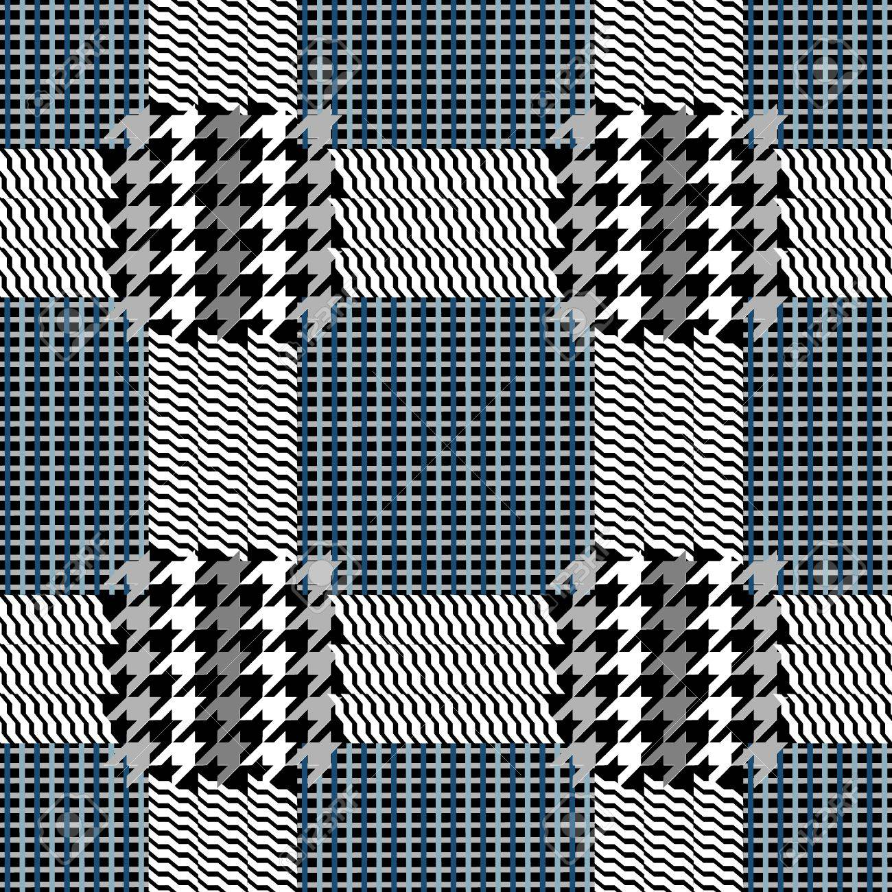 Classical English hounds tooth print. Retro textile design collection. - 67346015