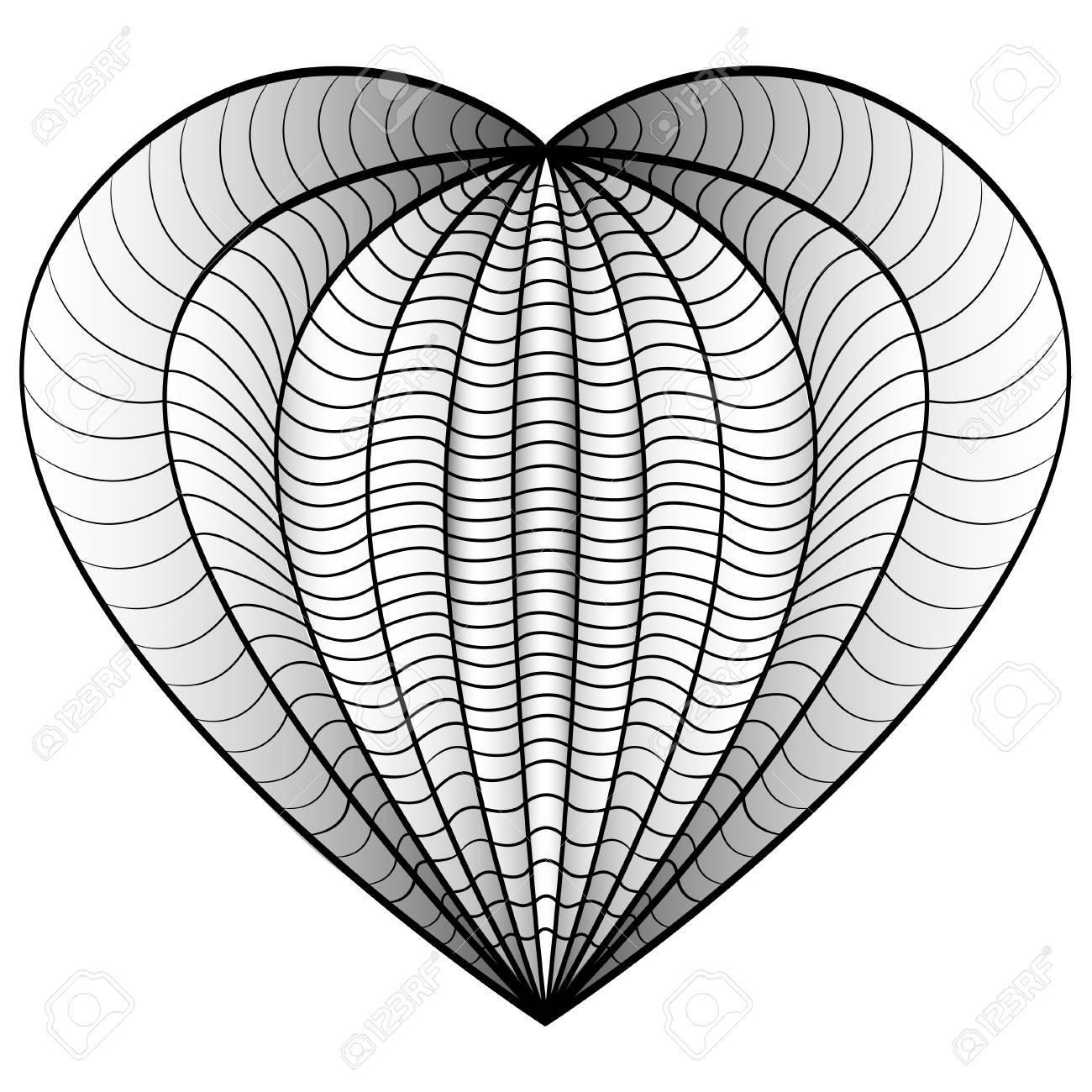 Coloriage Adulte A Imprimer Amour.Coeur D Amour Decoratif Vector Illustration Livre A Colorier Pour Les Adultes Et Les Enfants Plus Ages