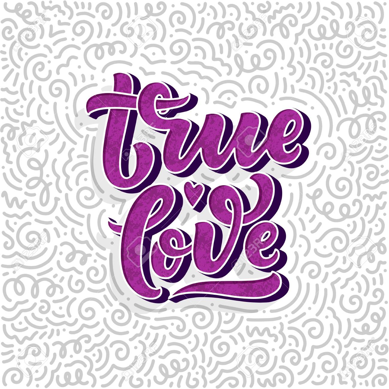 Hand drawn lettering composition, typography poster for Valentines Day, cards, prints. Vector illustration - 126050144