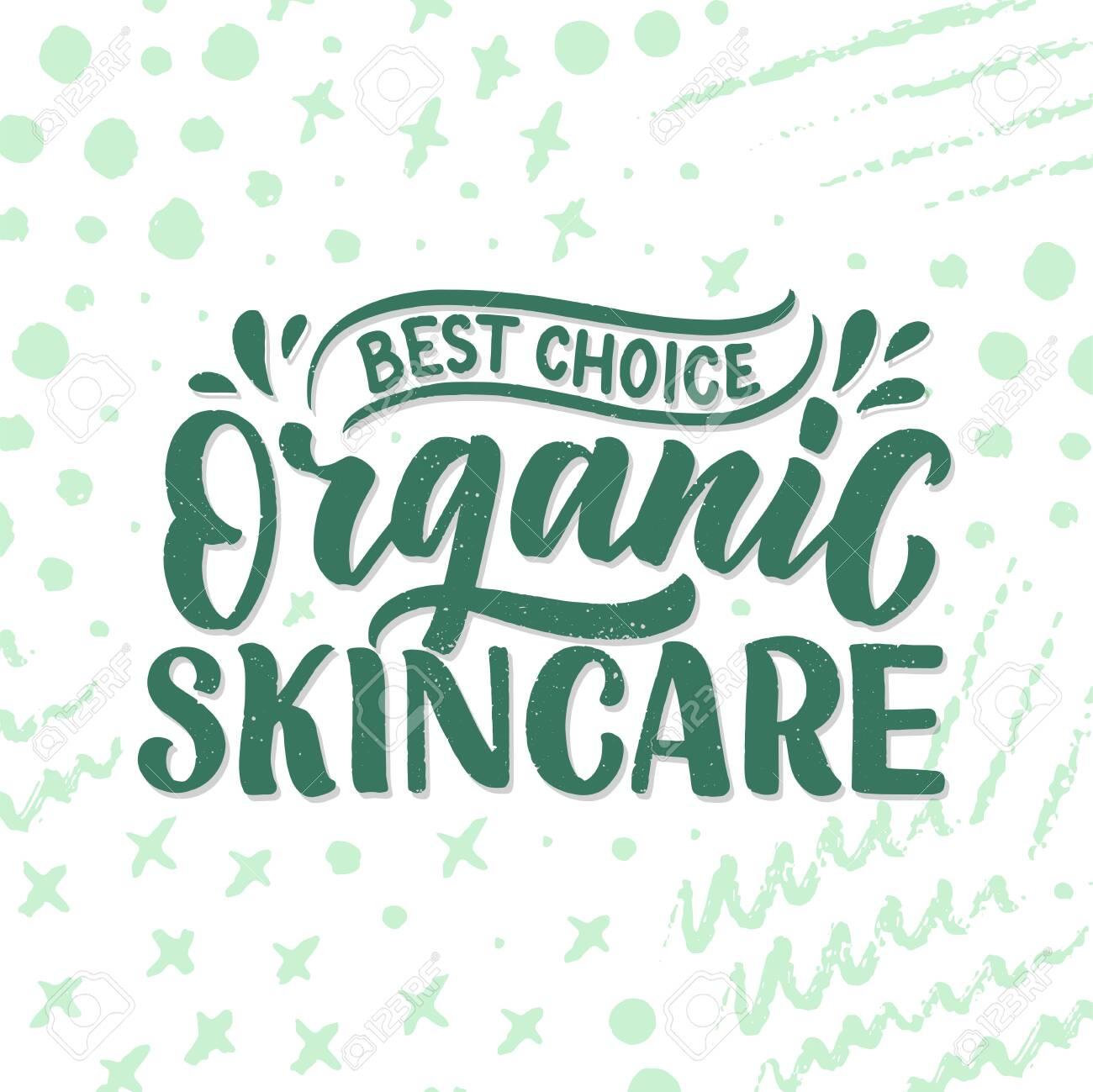 Organic skin care phrase concept banner  Natural cosmetic slogan