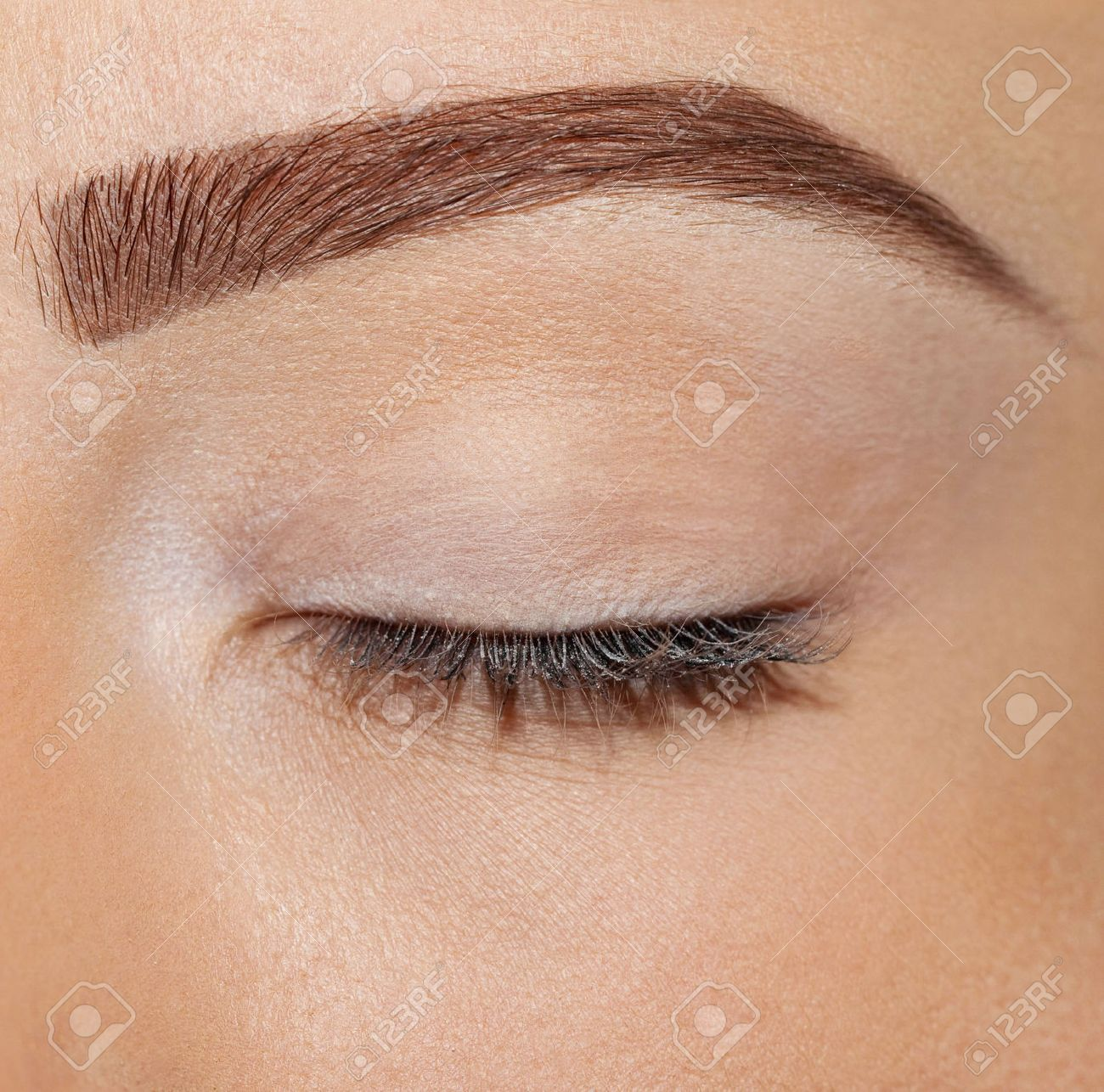 Close Up Eyes Without Makeup Stock Photo Picture And Royalty Free