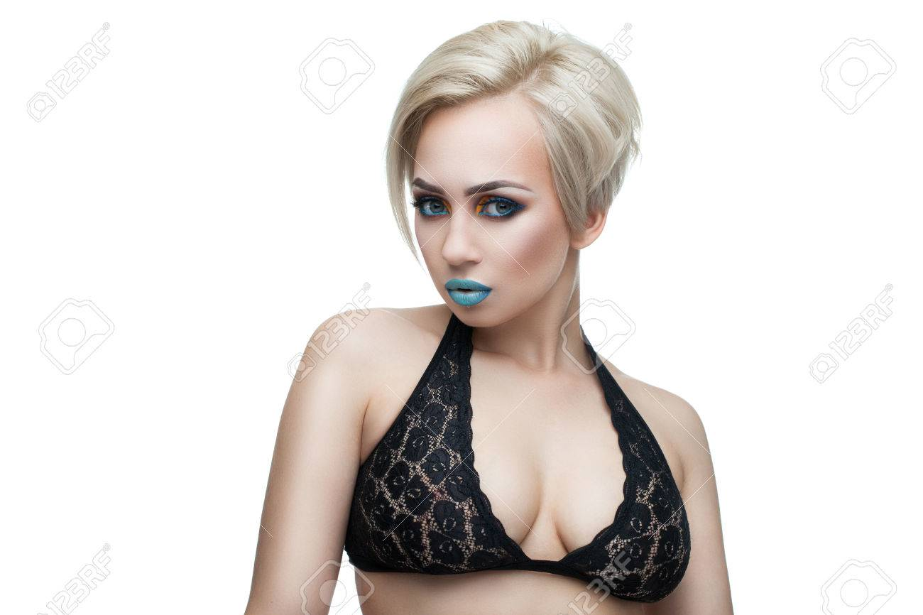 Short Blonde Hair Tattoo Girl