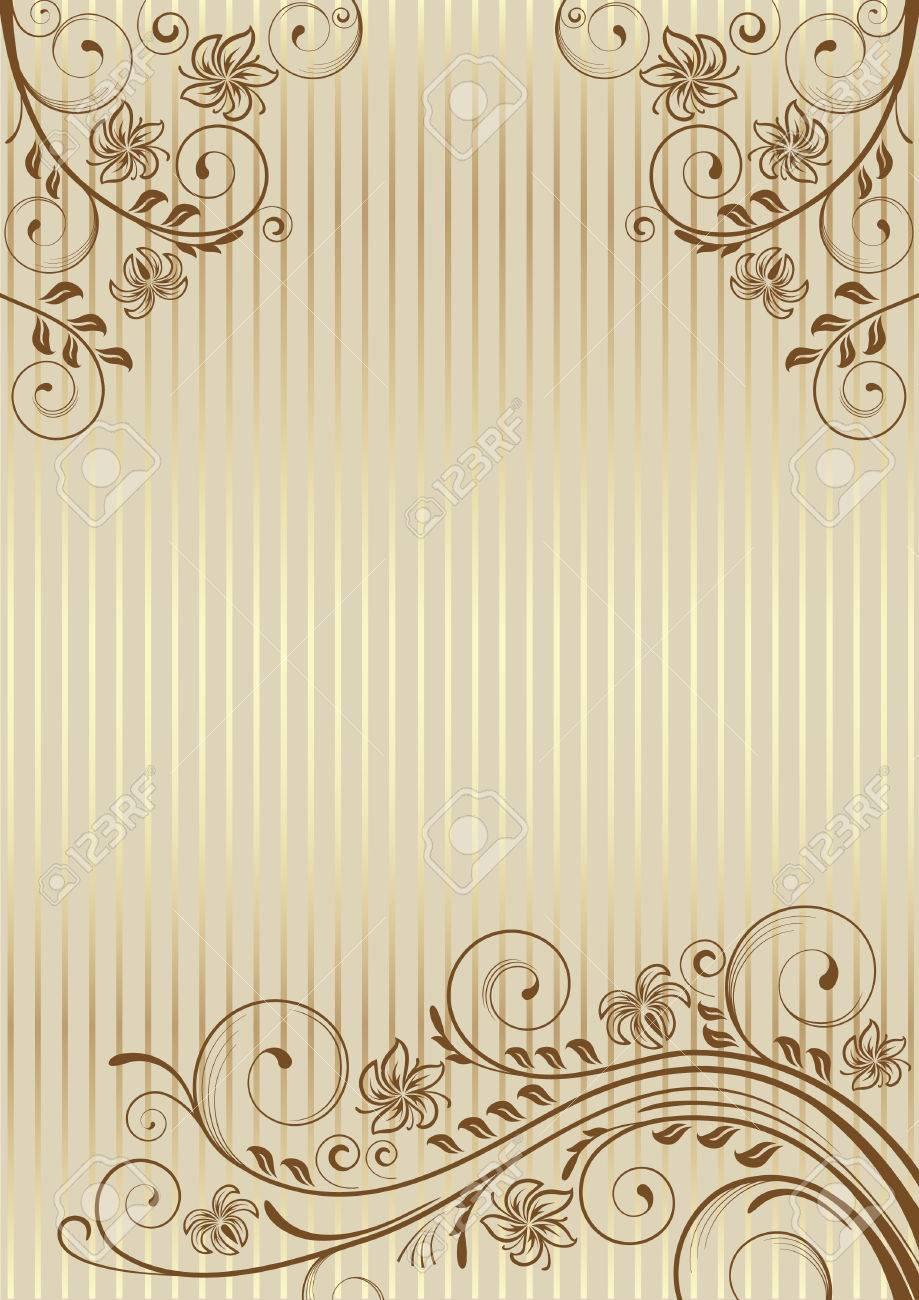 まんじと装飾的な背景の葉装飾的なフレーム 卒業証書 招待状 証明書のテンプレートです ページ のイラスト素材 ベクタ Image