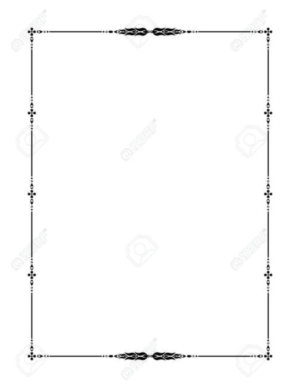 Schwarze Dekorative Rahmen Mit Floralen Ornament. Vorlage Für ...