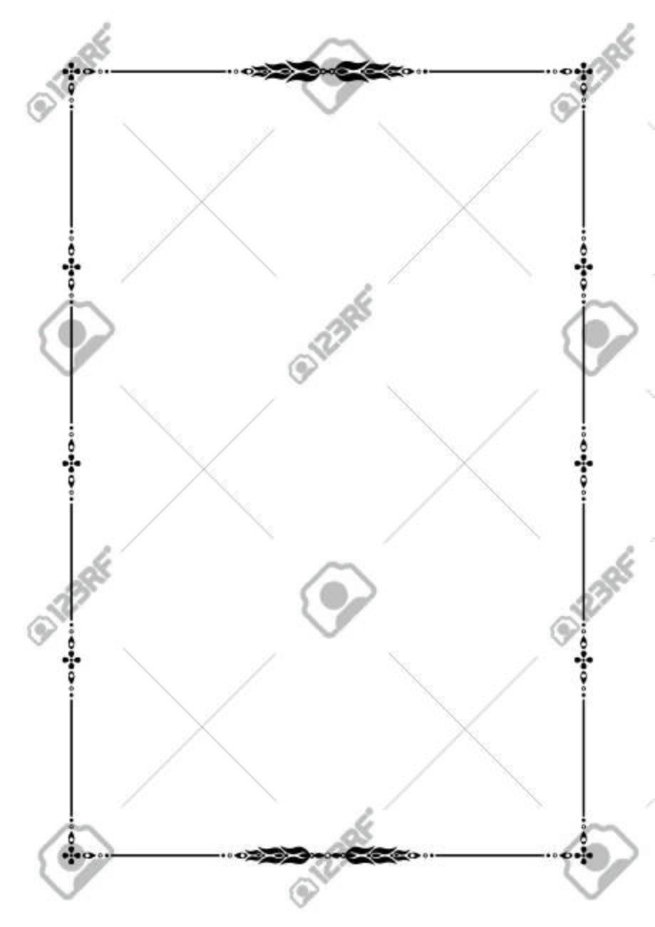 Черная декоративная рамка с цветочным орнаментом Шаблон для  Черная декоративная рамка с цветочным орнаментом Шаблон для дипломов книжных страниц сертификатов