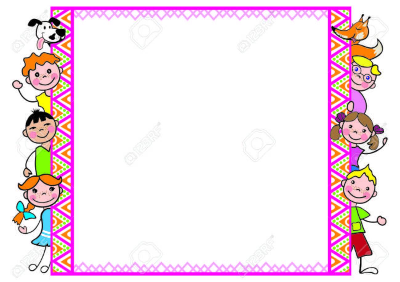 Favori Cornice Decorativa Con I Bambini Una Volpe Divertente Per I  GR67