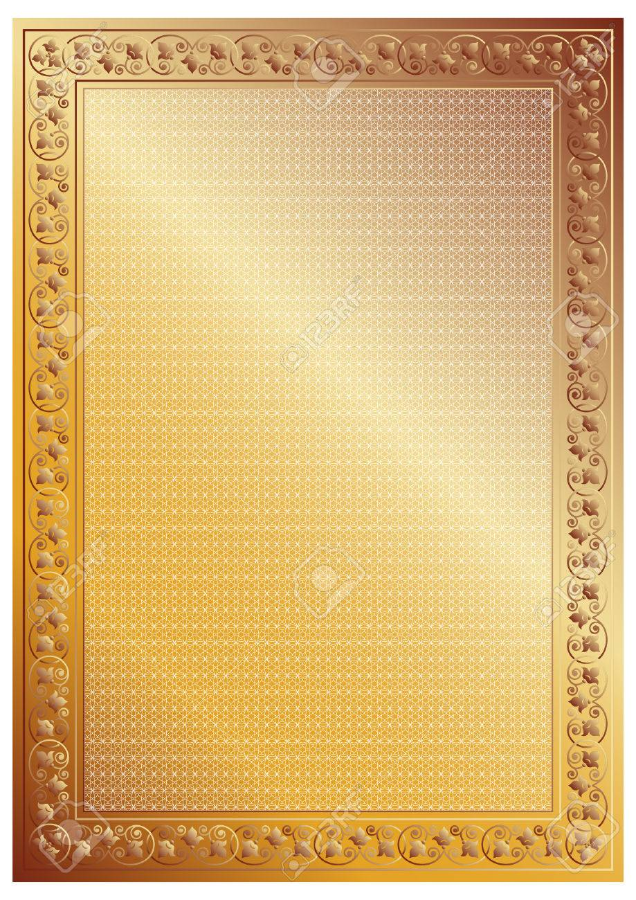 decorative certificate frame a4 page format stock vector