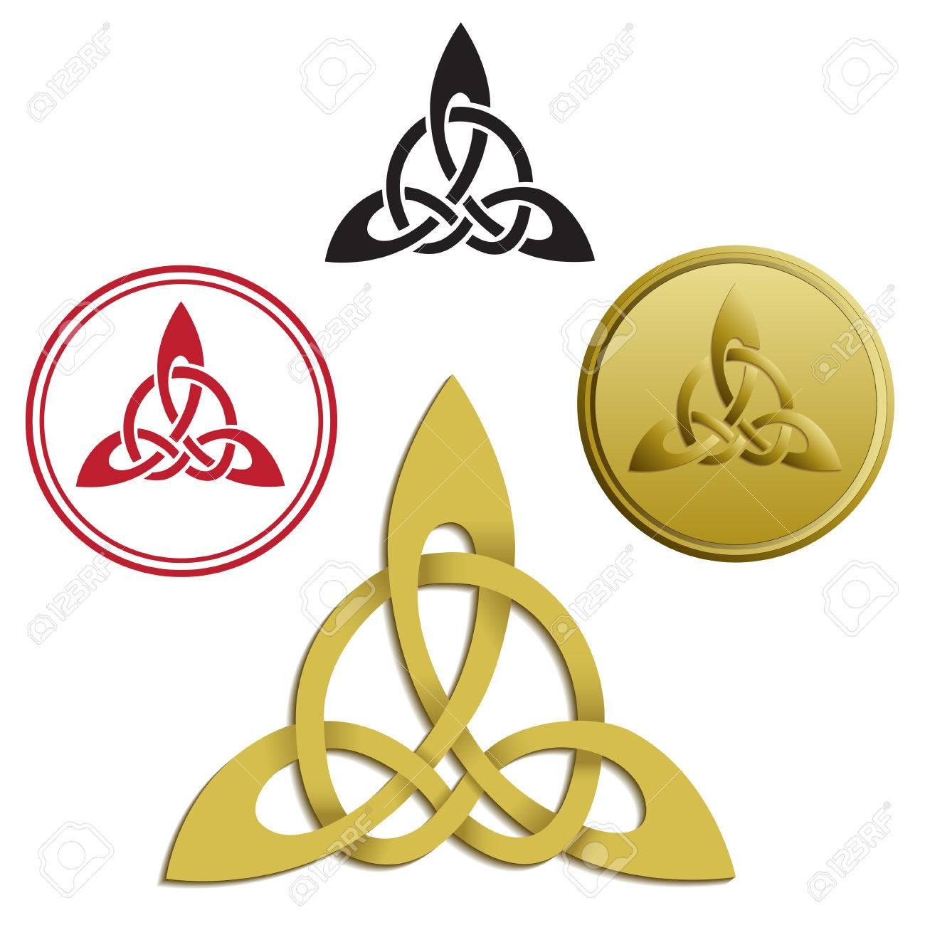 Triskele Triskelion Ancient Greece And Celtic Symbol Vector