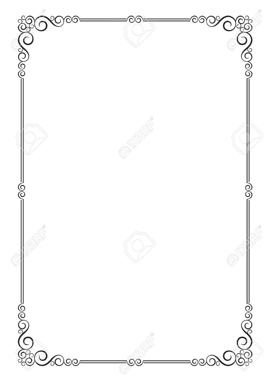 ornate frame for diploma certificate advertisement a4 page