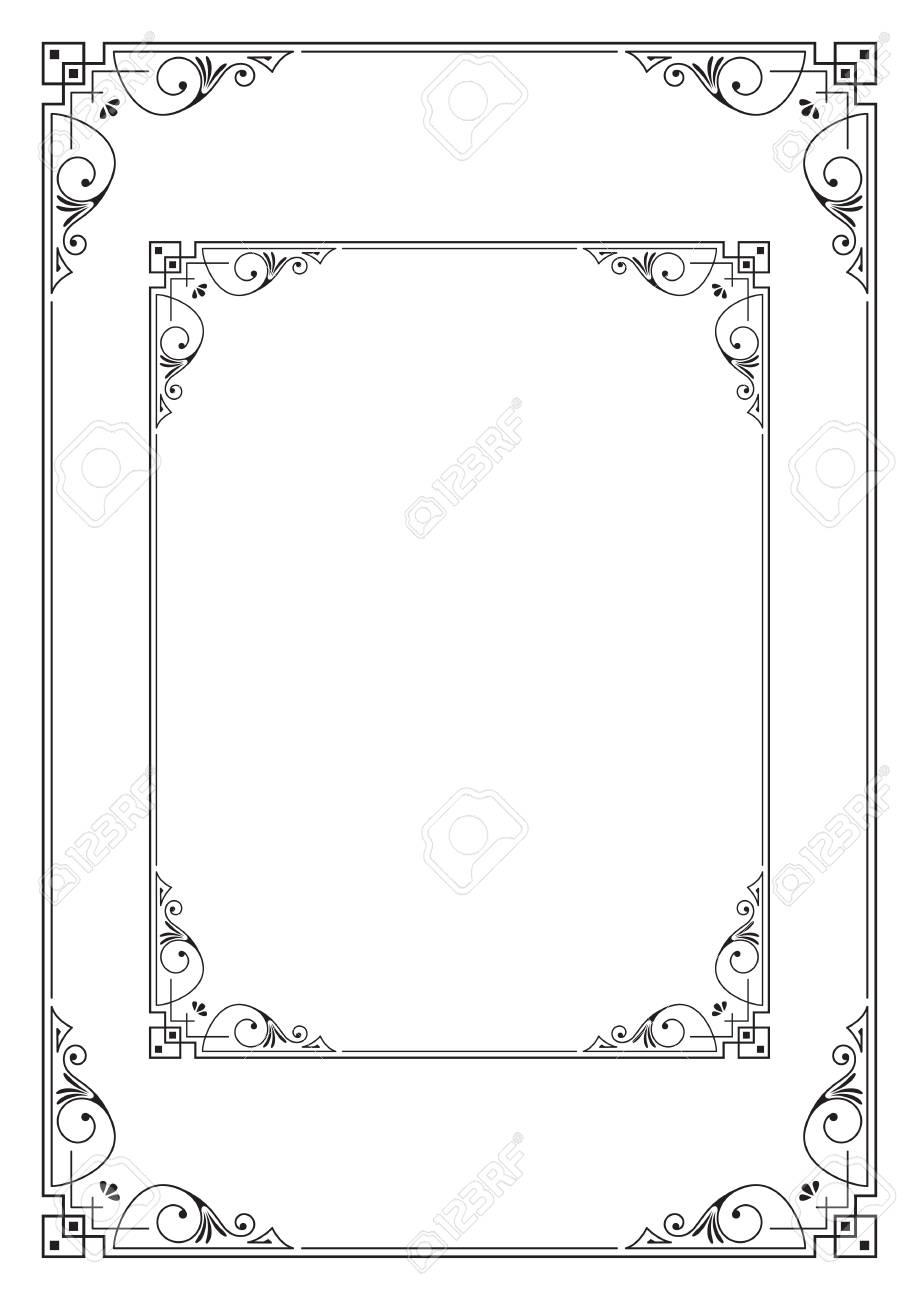 Marcos Decorativos. Proporciones A3 Y Carta. Plantilla Para Tarjeta ...