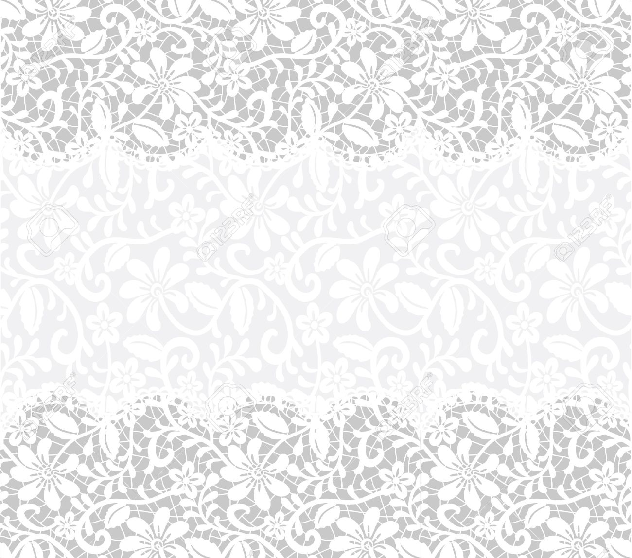 Template For Wedding Invitation Or Greeting Card With Lace Fabric