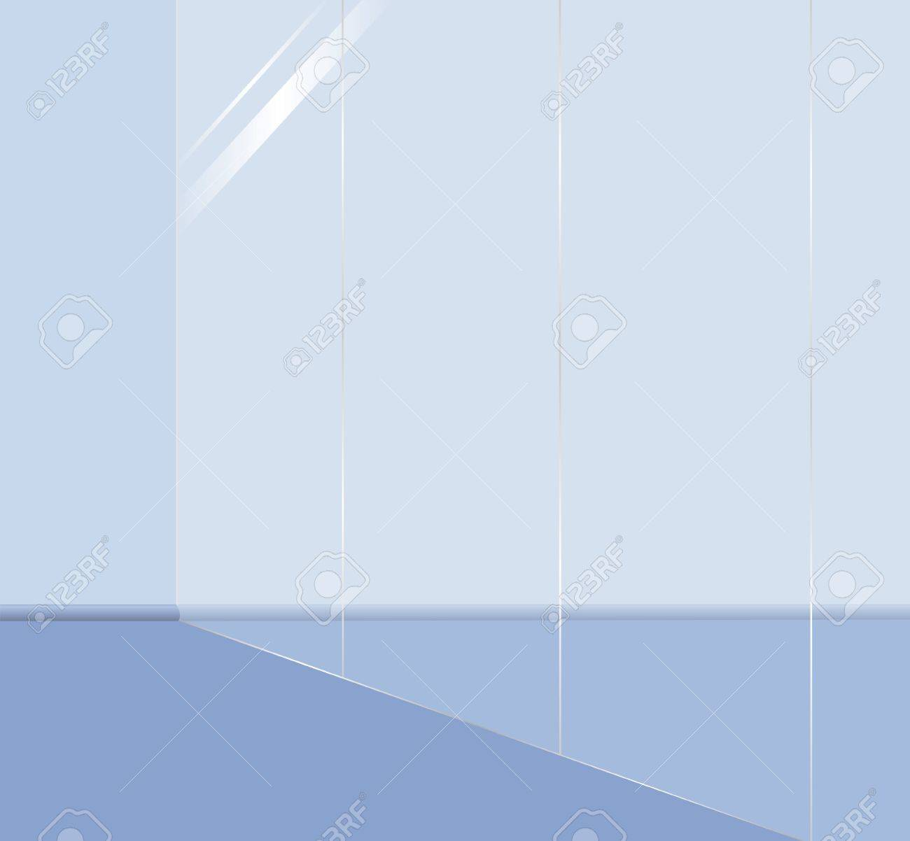 Show window in shop  Empty office with glass wall  Interior with mirror wall Stock Photo - 15605887