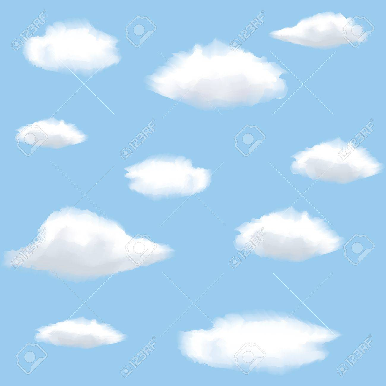 Seamless background with clouds on sky Stock Photo - 15605888