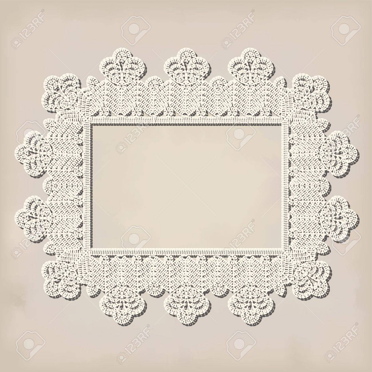 Crochet Doily On Grunde Background Royalty Free Cliparts, Vectors ...