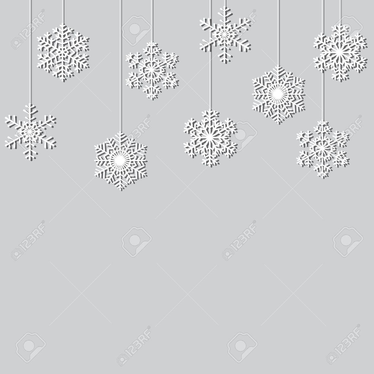 hanging paper snowflakes christmas background royalty free