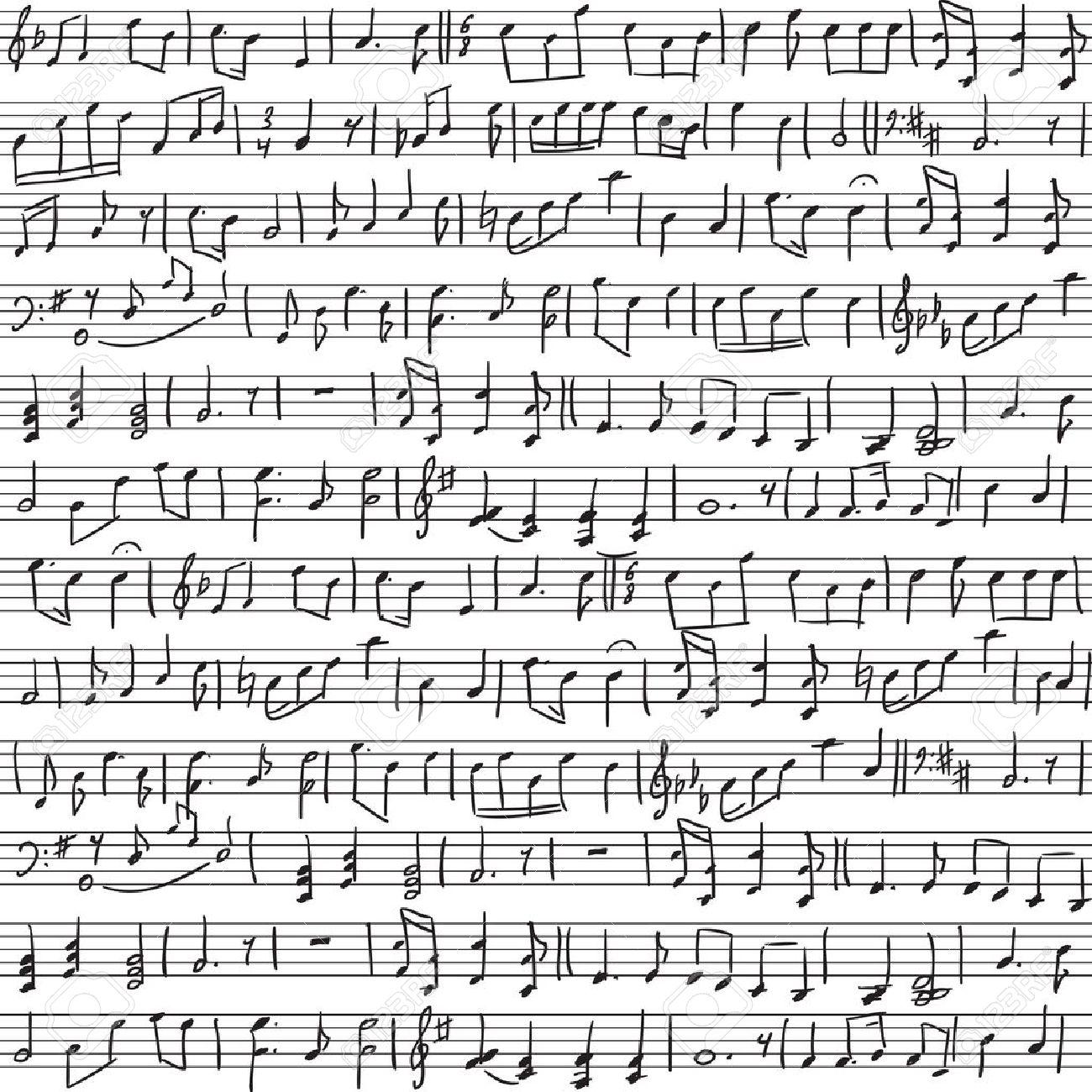 Handwritten Music With Handwritten Musical