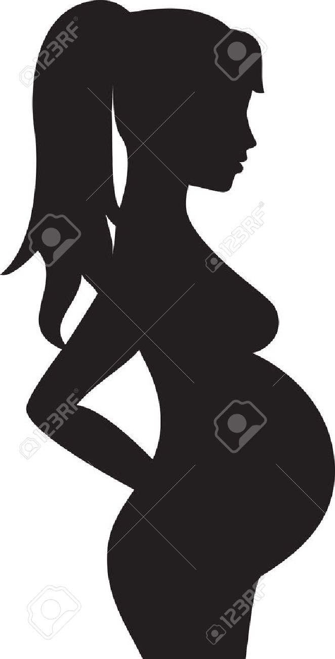 Silhouette of the pregnant woman Stock Vector - 16703452