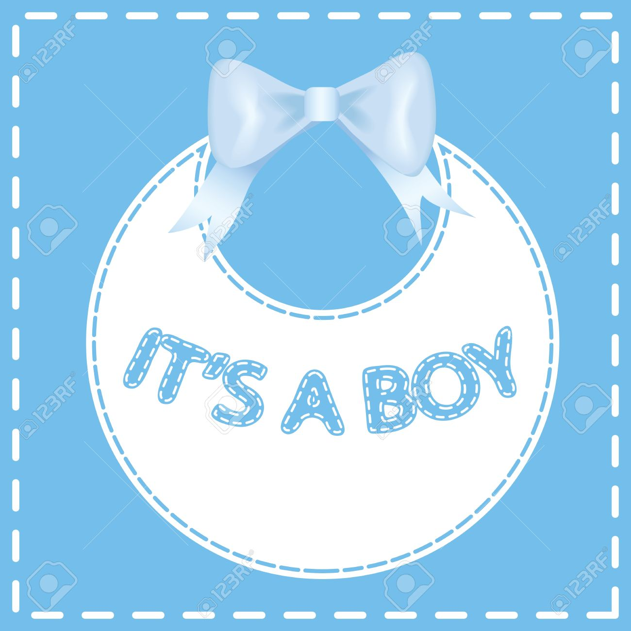 Baby Shower Invitation Card It S A Boy Royalty Free Cliparts ...