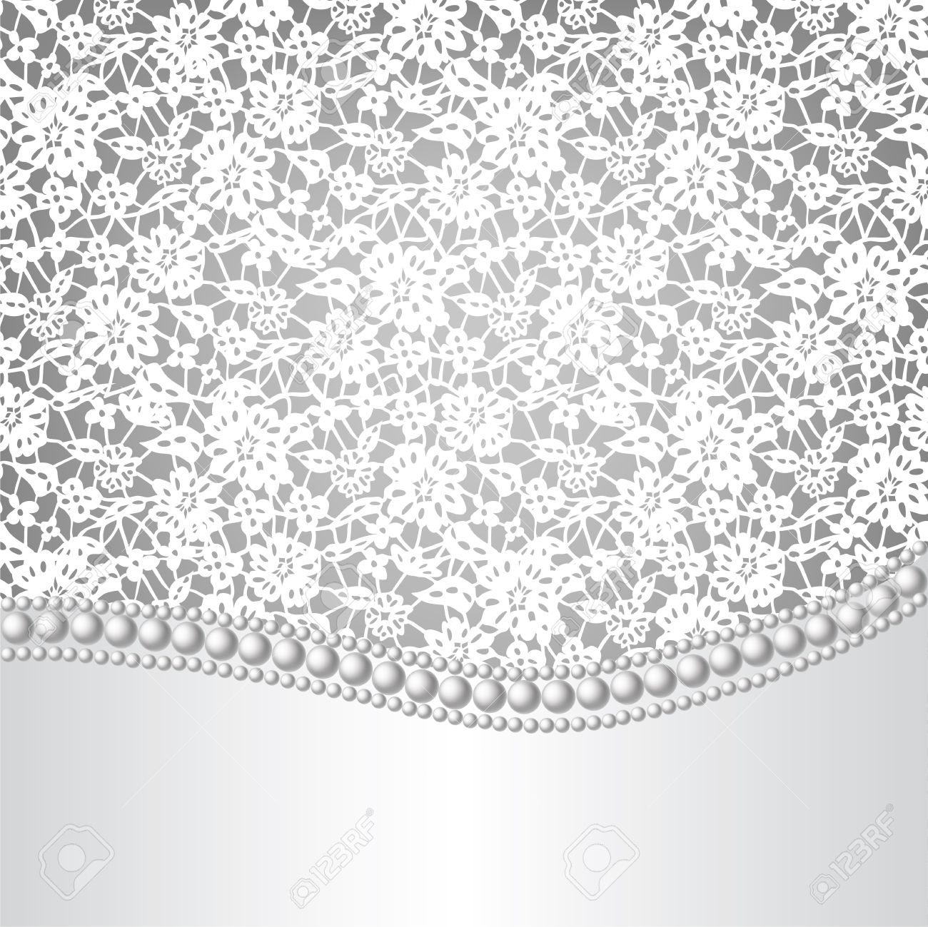 Template For Wedding Invitation Or Greeting Card With Lace