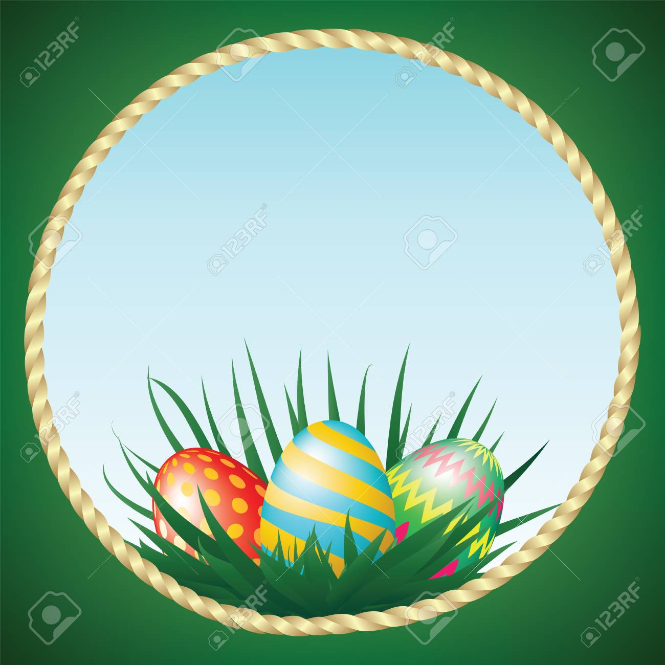 Easter eggs and grass Stock Vector - 17746367