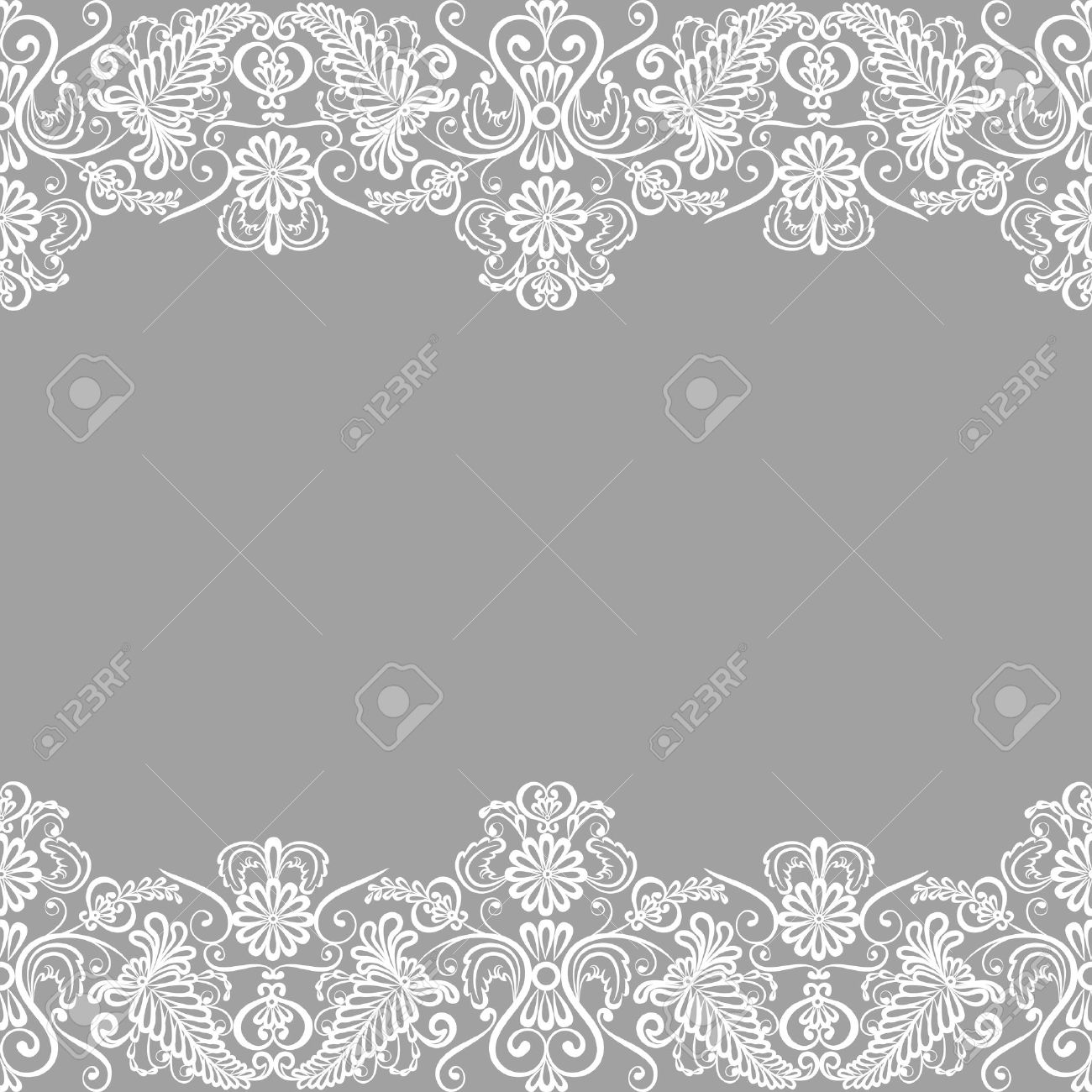 wedding invitation or greeting card with lace border royalty free
