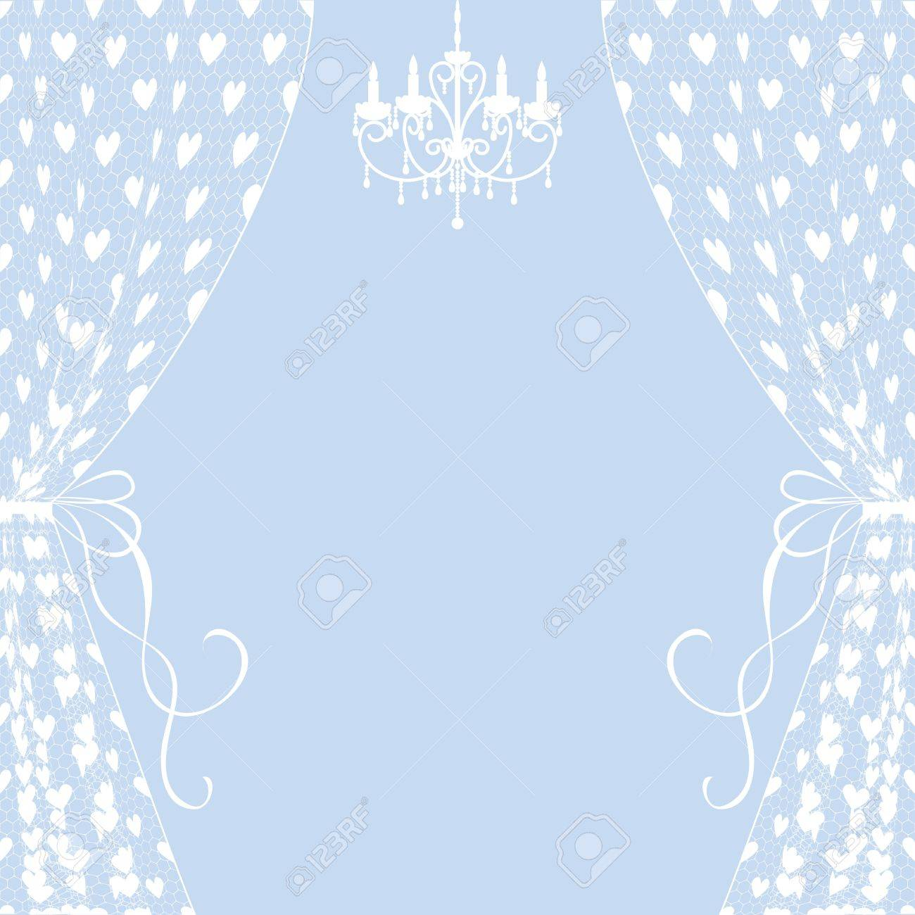 Vintage card with curtains and chandelier Stock Vector - 19577693