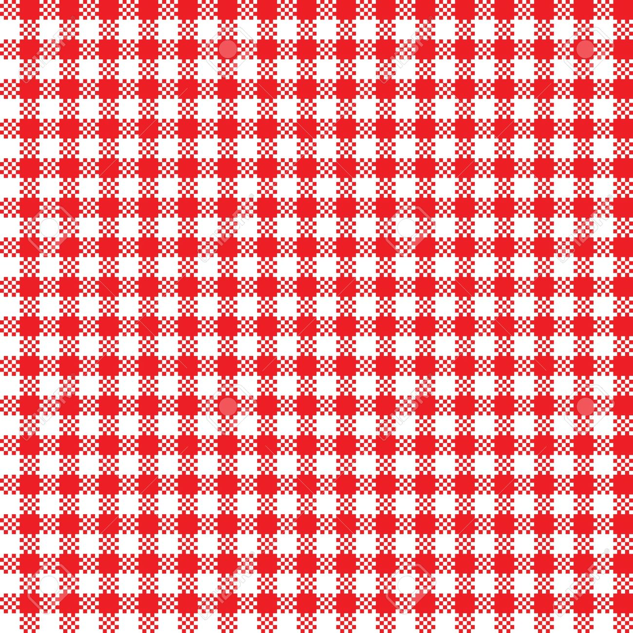 Red White Tablecloth Pattern Seamless Background Stock Vector   19907721