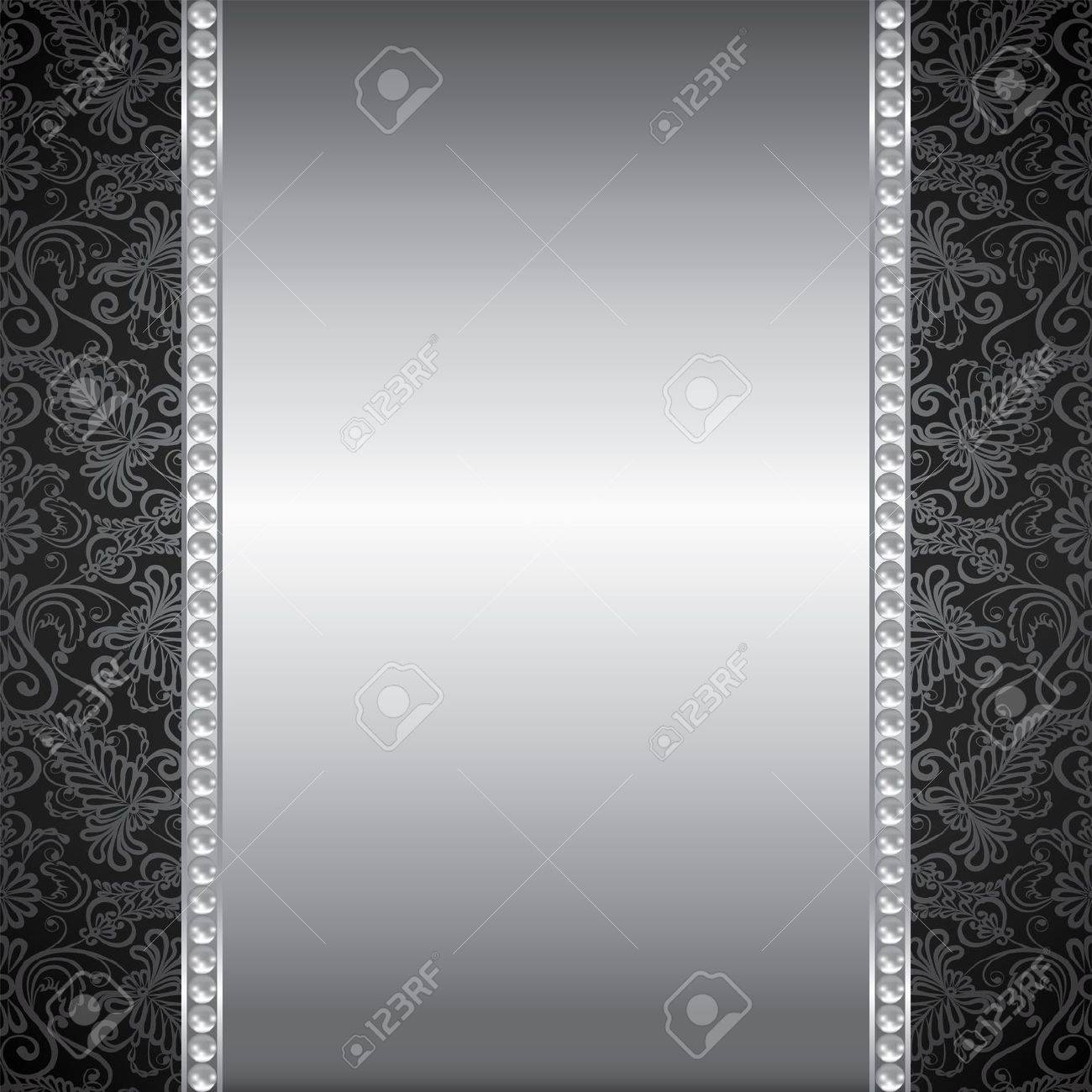 background with perl and silver frame royalty free cliparts