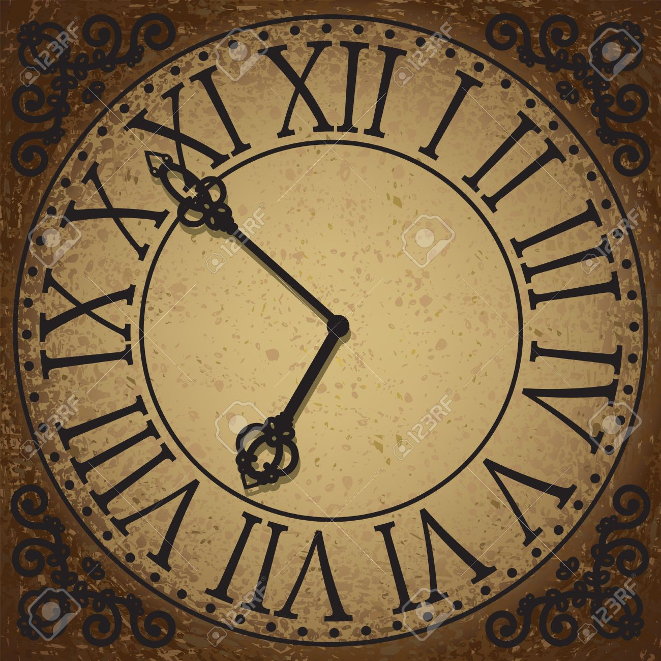 vintage background with antique clock face royalty free cliparts