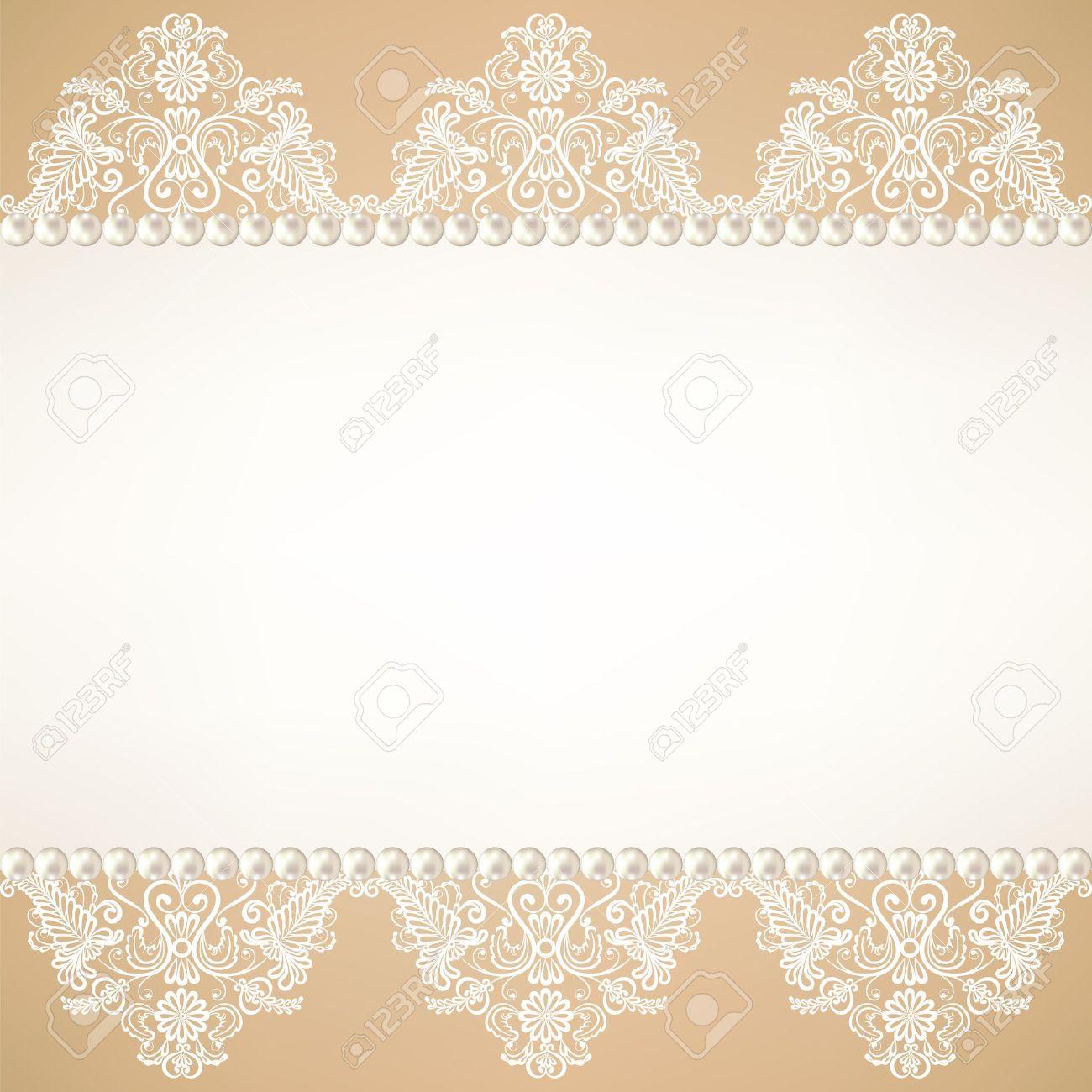 Invitations de mariage avec de la dentelle