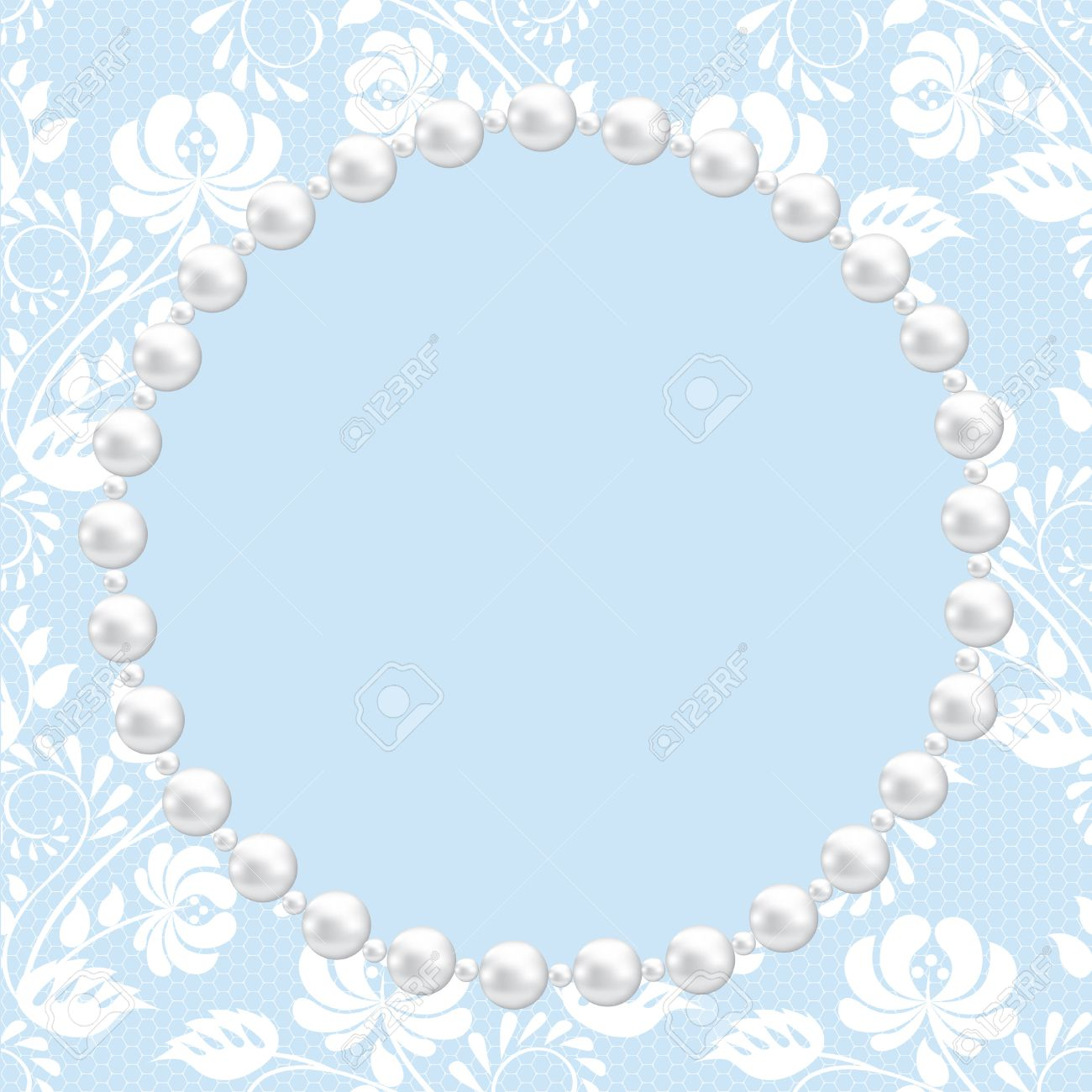 template for wedding greeting or invitation card with lace and