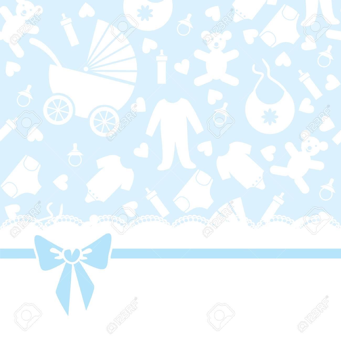 Saludo O Tarjeta De Invitacin Para Baby Shower Ilustraciones