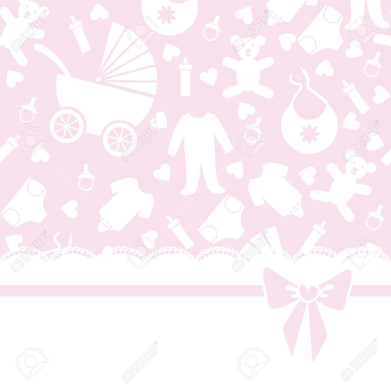 Saludo O Tarjeta De Invitación Para Baby Shower