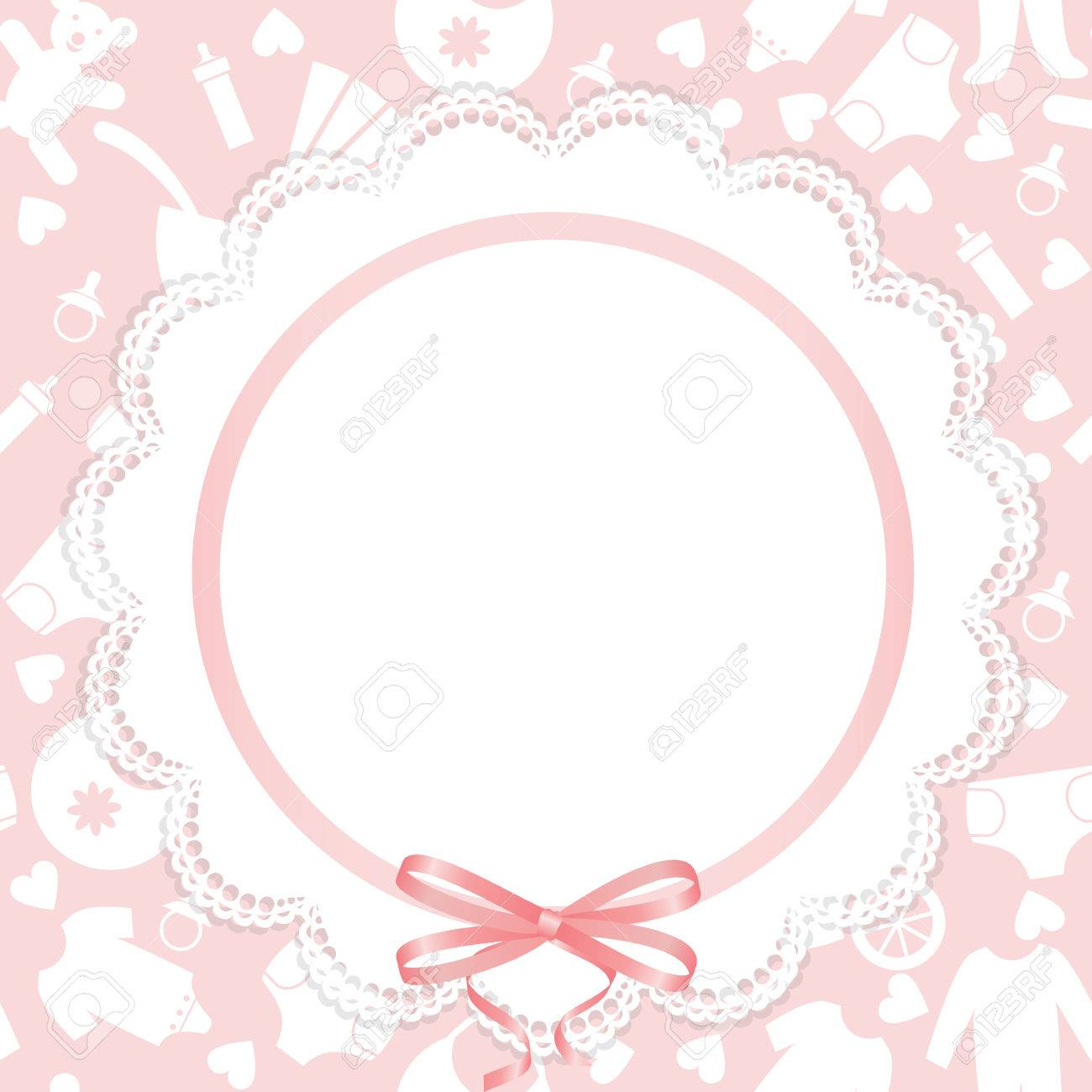Greeting Or Invitation Card For Baby Shower Royalty Free Cliparts